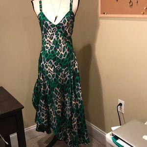 Long silk Diane Von Furstenberg dress. Size 6